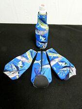 Marlin Tuna Wahoo Dorado Beer Bottle Cooler Holder Long Neck Insulator Koozie G6
