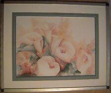 """Jeanne Bonine Large Signed Numbered Print """"Lilies"""" Triple Matte Pro Framed"""