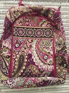 vera bradley backpack pink/purple EUC