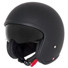 Germot GM 55 Jethelm Motorradhelm kleine Schale mit Sonnenblende schwarz grau