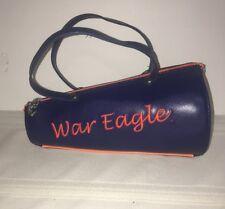 Auburn War Eagle Cheerleader Megaphone Vinyl Purse Handbag Blue and Orange EUC