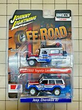 Johnny Lightning Toyota Land Cruiser & Jeep Cherokee XJ Off Road Indonesian Excl