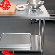 """Heavy-Duty 30"""" x 36"""" Stainless Steel Work Prep Food Kitchen Table Commercial"""