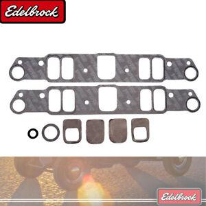 Edelbrock 7280 Intake Manifold Gasket Set For 61-79 326-389-400-421-455 Pontiac