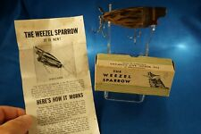 New listing Vintage Weezel Sparrow In The Box With Paper Cincinnati 26, Ohio ! !