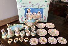 Bunnies in the Garden Children's 23 piece hand painted tea set