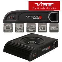 Vibe OptiSound Auto 8 Active Car Van Underseat Slim Subwoofer Bass Box Enclosure