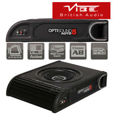 Vibe OptiSound Auto 8 Active Car Van Underseat Slim Subwoofer Bass Box Enclosure