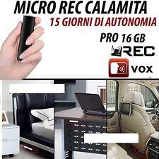 MICRO REGISTRATORE AUDIO VOCALE 16 GB SPY SPIA MINI AMBIENTALE USB