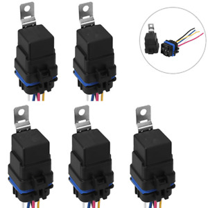 5 SPDT 5 Pin 12V 30/40A Automotive Bosch Style Waterproof Relay Kit for Car Boat