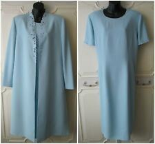Condici Size 20 Baby Blue Embroidered Designer Wedding Dress & Coat Outfit Suit