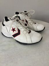 CONVERSE All Star Basketball White Leather Mid-High Top Shoes Size 8.5