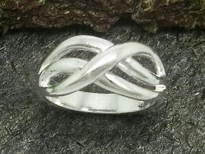 Infinity Unendlichkeit 925 Sterling Silber Ring Freundschaft Liebe