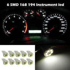 10x Bright White T10 Wedge Gauge Cluster Instrumental Speedometer LED Light Bulb