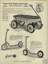 1941 PAPER AD Pioneer Steel Coaster Wagon Sky Rocket Sidewalk Scooter Gendron