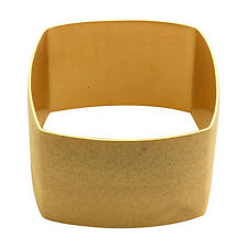 GOLD GLITTER STARDUST SQUARE BRACELET BANGLE CUFF STAINLESS STEEL NWT