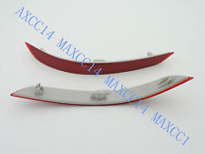 Pair Rear Bumper side Reflectors Lamps Light Lens Red For BMW X5 F15 2014 Year