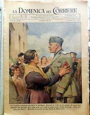 GIORNALE LA DOMENICA DEL CORRIERE N.21 1942 WWII DUCE SARDEGNA MUSSOLINI