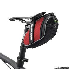 RockBros Rainproof Saddle Seat Bag Reflective Rear Seatpost Bike Bag Red