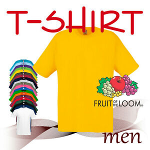 T-SHIRT MEN * KIDS * Fruit of the Loom * ORGINAL T. *  * 135-145 gm/m2 *