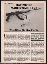 1988 Maximizing Marlin Model 70 The Other Rimfire Exotic 4-page Article