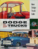 1955-1956 Dodge C3 Pickup ORIGINAL Sales Brochure Literature New Truck Cabs