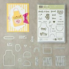Stampin' Up! Apron of Love Clear-Mount Stamp Set & Apron Builder Dies Bundle