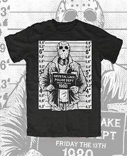 Jason Mugshot T-Shirt schwarz  Kult,Movie,Horror,Voorhees,Jason,13th,Blood