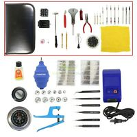 51 pcs Watch Repair Tool Kit Case Opener Hand Remover Spring Bars Case Press USA