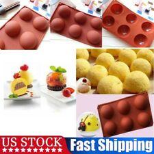 6 Cavities Large Hemisphere Chocolate Silicone Mold Cake Dome Baking Mould