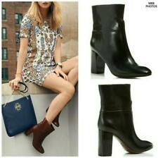 TORY BURCH Ankle  BLACK GENUINE LEATHER BOOTS 10