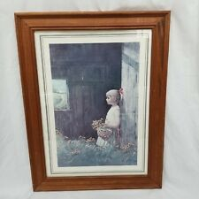 Vintage Adolf Sehring Summer Daydream Artist Signed Litho Print 25 x 19 Framed