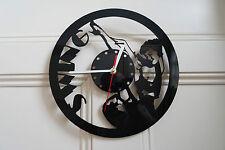 Swing Clock made from black plexiglass [P-2]