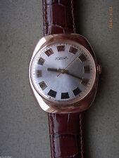 Mechanisch-(Handaufzug) Armbanduhren aus echtem Leder und Massivgold