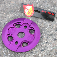 S&M BMX BIKE X-MAN GUARD BICYCLE SPROCKET BLACK PURPLE MADE IN USA FIT