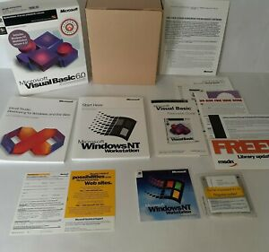 NOS Microsoft Visual Basic 6.0 Professional Edition-Open Box