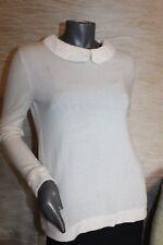 MADELEINE Cashmere Pullover Kaschmir Schurwolle Strickjacke Gr. 36 38 40 S M TOP
