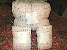 POTTERY BARN KIDS Millie Dot Scallop Quilt, FULL QUEEN, 2 EURO SHAMS,BLUSH