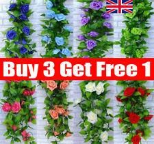 2 X 8Ft Artificial Rose Garland Silk Flower String Vine Ivy Wedding Garden Decor