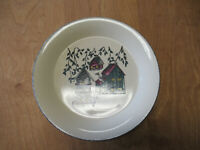 """Home & Garden Party BIRDHOUSES Dinner Plate 10 3/8"""" imported  3 available"""