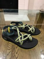 CHACO Sandals Women's Size 7 Rare Black Green Yellow 9.5/10 condition