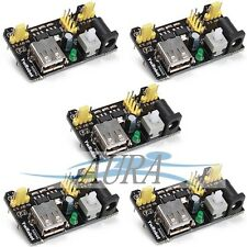 5 x 5x MB102 power supply breadboard module 3.3V 5V Arduino education uk C302