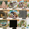 180x180cm Happy Pets & Camper Bathroom Fabric Shower Curtain Set Liner 12 Hooks