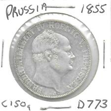 Germany(Prussia) 1855-A Thaler Silver Coin KM-465 Lightly Toned XF+