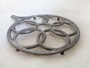 Vintage Metal Trivet Hot Pot Stand Holder