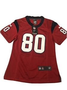 NFL Nike ON FIELD A. Johnson #80 Red Houston Texans Football Jersey YOUTH SMALL