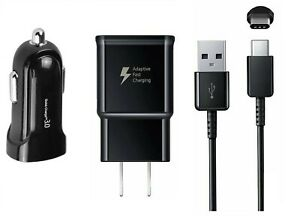 FAST ADAPTIVE WALL+CAR ADAPTER+ TYPE C USB FOR SAMSUNG S10+/S20/S20+/Note 8/9/10