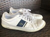 Lacoste Men's Europa Casual Leather Fashion Sneaker Shoes Size 10.5 White Navy