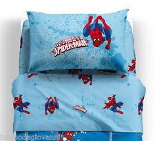 Completo Letto Singolo Spiderman Set di Lenzuola Caleffi con sotto Cotone 100%
