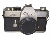 Vintage Canon TX 35mm Film SLR Camera Body - Chrome Body Only